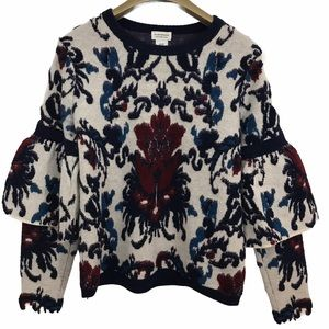 Club Monaco Cashmere Wool Blend Floral Sweater